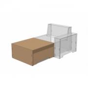 Modul Sofa Fussschemel havanna