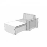 Modul Sofa Fussschemel weiss