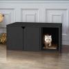 Katzenstreu-Kasten schwarz