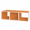 3er Cube quer orange