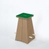 Puffo Hocker gross (2er Set) grün