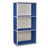 3er Cube breit blau