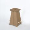 Puffo Hocker gross (2er Set) Karton natur